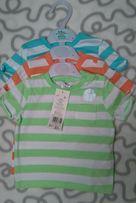 Nowe bluzki z krótkim rękawem 3 sztuki F&F 6-9 miesięcy rozmiar 74