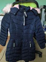 Зимова куртка-пальто на дівчинку