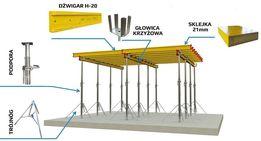 Dźwigary H20 Doki Stemple budowlane Sztyce Podpory Stropowe