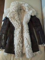 Итальянская шуба дубленка женская. Тоскана зимняя парка куртка S