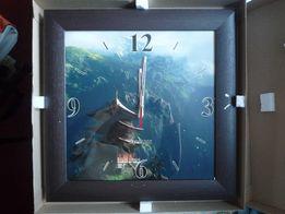 Часы настенные большие в деревянной рамке. Интерьерные.