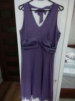 Sukienka fioletowa na studniówkę, wesele