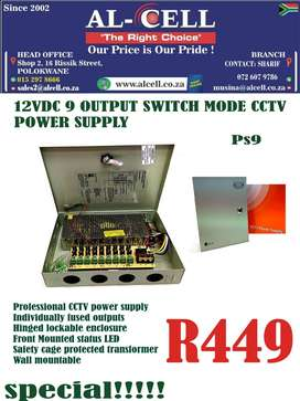 12VDC 9 OUTPUT SWITCH MODE CCTV POWER SUPPLY