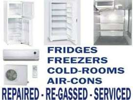 Fridges repairing and re-gassing