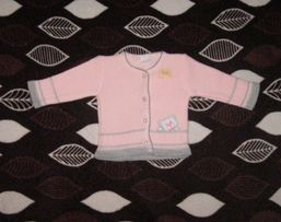Sweterek dla dziewczynki 0-4m