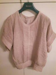 Pudrowy sweterek ciążowy