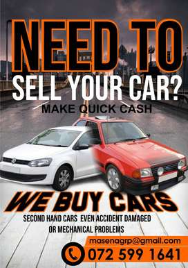We Buy Used Cars and Accident damaged Cars