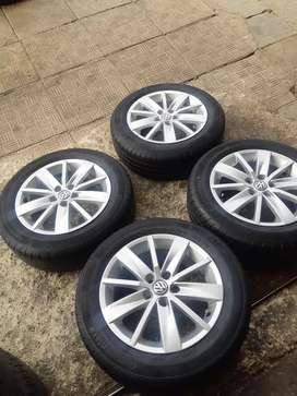 "A set of 15"" polo TSI mags and continental tyres"
