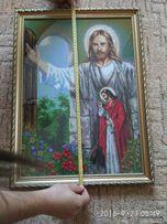 Картина вишита нитками (Образ) Ісус стукає в двері.