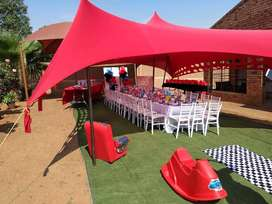 Peg and Pole tents , Stretch tents & Stretch Décor Tents for Sale
