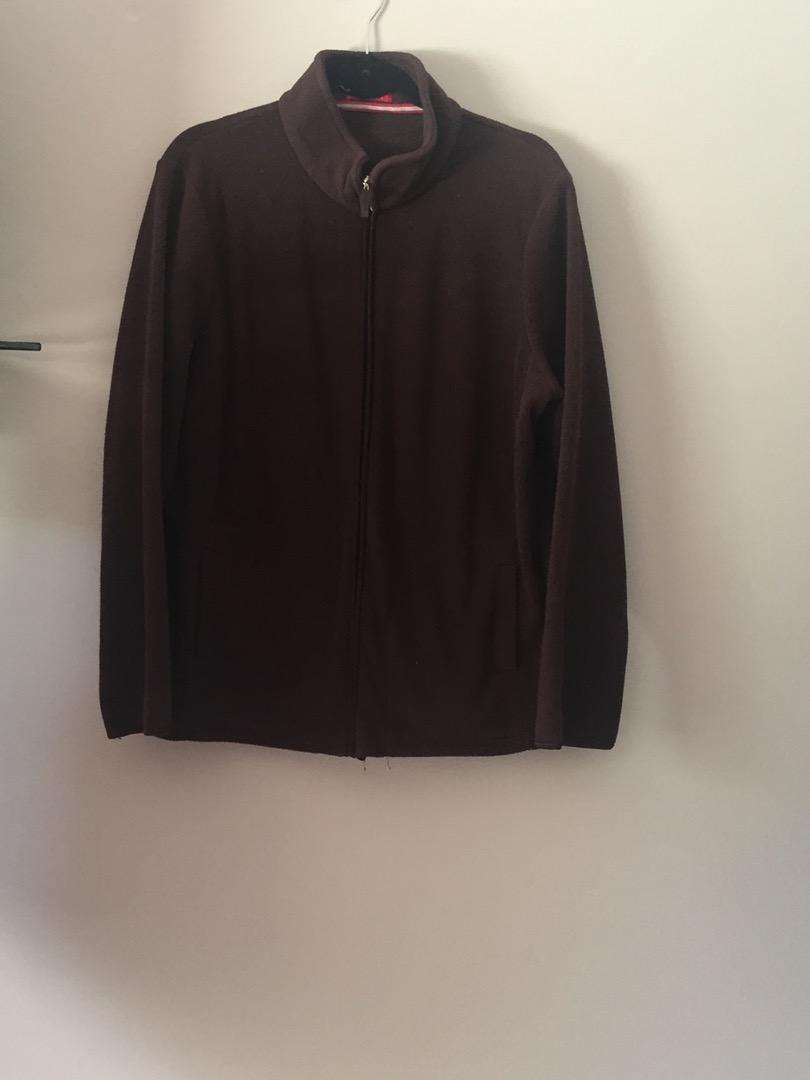 New Brown Woolworths fleece jacket. Size: L.