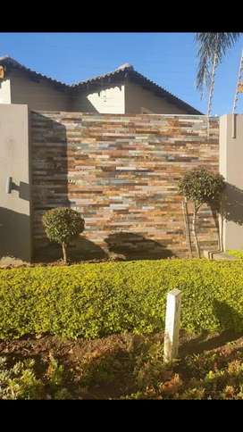 I'm doing stone cladding all type of cladding fit here