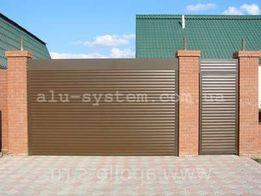 Роллетные ворота на гараж, роллеты гаражные, секционные ворота