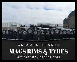 Mag rims and tyres for sale for most vehicles make and models.