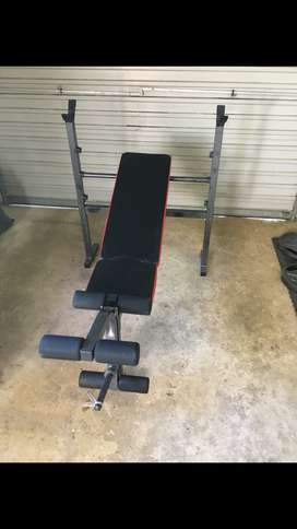 bench press with rack and leg extention