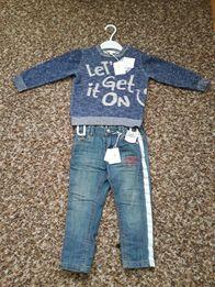 Комплект,джинсики та кофточка,італійської фірми Fagottino OVS kidS