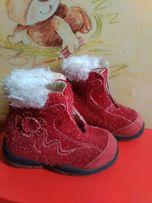 Демисезонные кожаные ботиночки для девочки Chicco 20 размер