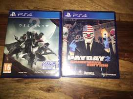 Destiny 2 and payday 2 for ps4