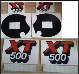 Yamaha XT tank and side cover decals stickers graphics sets