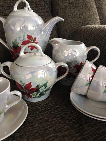 Очень красивый перламутровый чайный сервиз Днепр - изображение 4