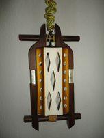Люстра светильник дерево кирамика 31х50 см