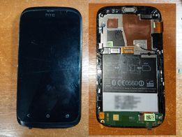 Дисплей с рамкой HTC Desire V T328w оригинал без царапин с пленкой