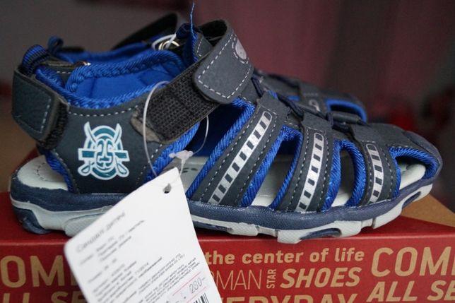Босоножки, сандалии для мальчика, темно-синие, новые, 28,31 Киев - изображение 1