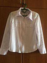 Белая блуза на девочку 12-14 лет на рост 152