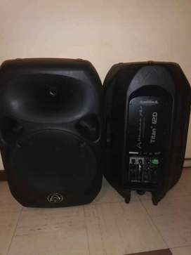 2 wharfedale pro titan-12D Active speakers