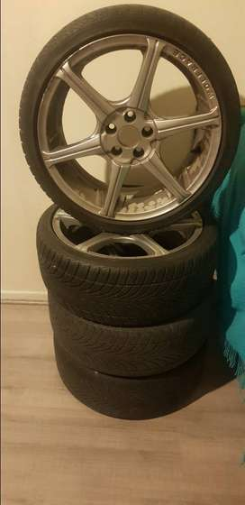 A set of mags with tyres