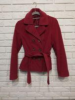 Piękny dopasowany płaszcz H&M kolor burgund rozmiar 36