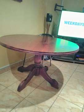 Solid Round Table R 1000  space saver. Send chat A. S. A. P.