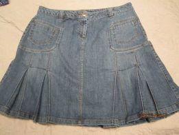 Bon`a Parte. Dżinsowa spódnica z kontrafałdami 48