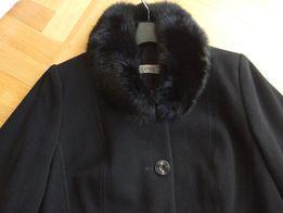 NOWY Płaszcz czarny Getex, rozm. 44, wełna 80%, jesienno-zimowy