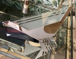 Duży kinkiet chromowo szklany 39cm w stylu art deco lata 70