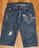 Джинсовые шорты б/у на мальчика 10-12 л