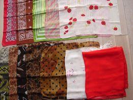 chustka apaszka brązowa czerwona czarna zieleń róż szal różowy Zamiana