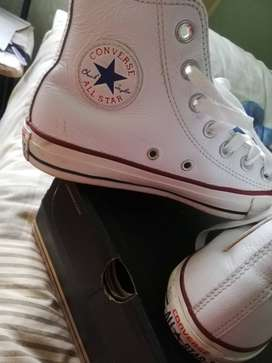Converse all star leather chuck taylor for sale