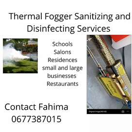 Thermal Fogger Sanitizing and Disinfecting