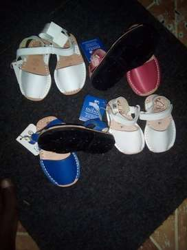 New born and toddlers  pure leather sandals