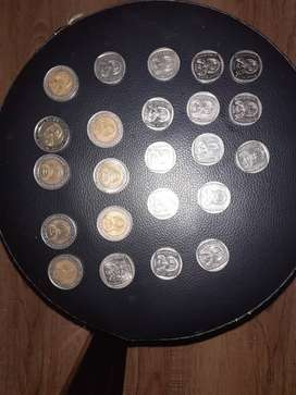 I am selling R2 and R5 mandela coins all in total they are 24