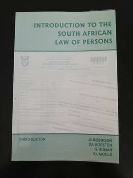 Introduction to the South African law of persons