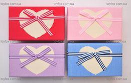 Подарочная коробка шкатулка с бантиком прямоугольная