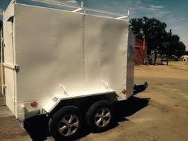 Large Double axle Box Trailer