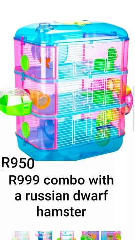 All hamster cages and accessories