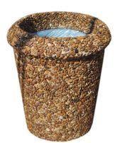 Урна садовая, парковая урна из бетона для дачи, корзина для мусора