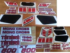 1983 XT 600 34L decals stickers graphics set