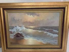 Large Oil Painting - Sea Scape