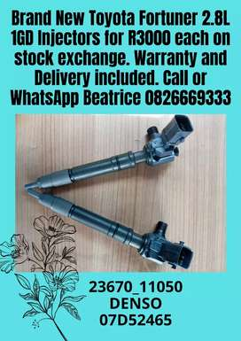 TOYOTA fortuner 2.8l 1GD Injectors for sale