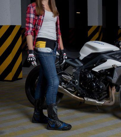 Męskie lub damskie spodnie motocyklowe legginsy z kevlarem pod jeansy Józefów - image 3